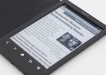[BILD] ITM-Newsroom-Meldung auf E-Book-Reader mit E-Ink-Display - (c) Felix Wessely